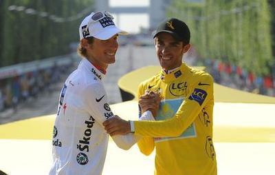 Andy Schleck Alberto Contador DPPI