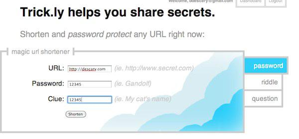 Trick ly Trick.ly: un service d'URL courtes sécurisées