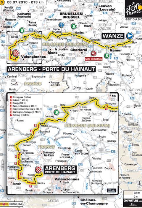Tour de France 2010 ... Tout sur l'étape 1 du dimanche 4 juillet 2010