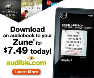 Download an Audiobook to Your Zune for only $7.49