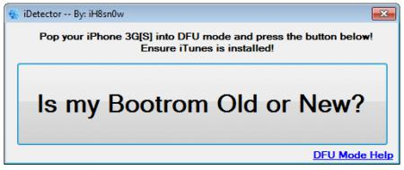 iDetector : OLD ou NEW Bootrom ?