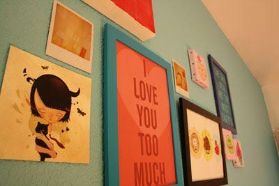 Une chambre bleu & gourmande