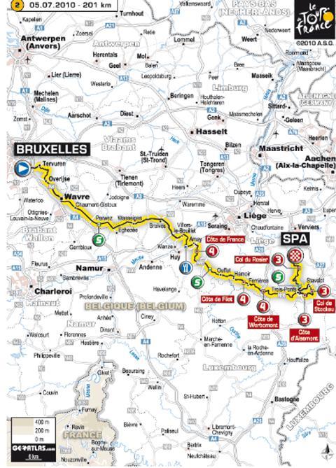 Tour de France 2010 ... Tout sur l'étape 2 du lundi 5 juillet 2010