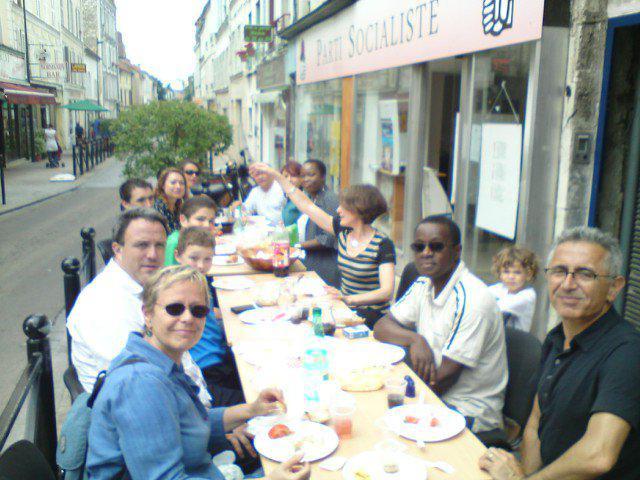 Debat franco allemand a Fontenay