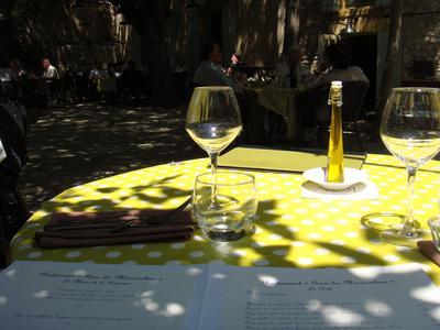 20100524 sous les micocouliers 00 table Sous les Micocouliers, Eygalières (ChrisoScope)