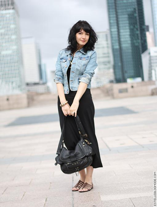 Denim et maxi dress !