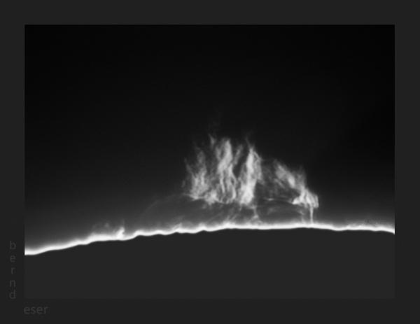 Protubérances solaires de Bernd Eser