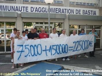 La Communauté d'aggolomération de Bastia apporte son aide au SCB.