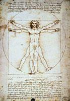 Célèbre croquis de Léonard de Vinci