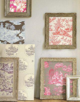 Frame with toile de jouy