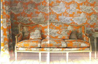 Orange toile de jouy