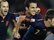 Quarts finale victoire l'Espagne contre Paraguay grâce David Villa, Espagnols qualifiés pour demi-finales