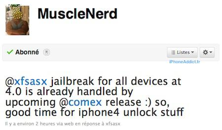Jailbreak iPhone 4 et tous iDevices prêt – désimlock en cours !