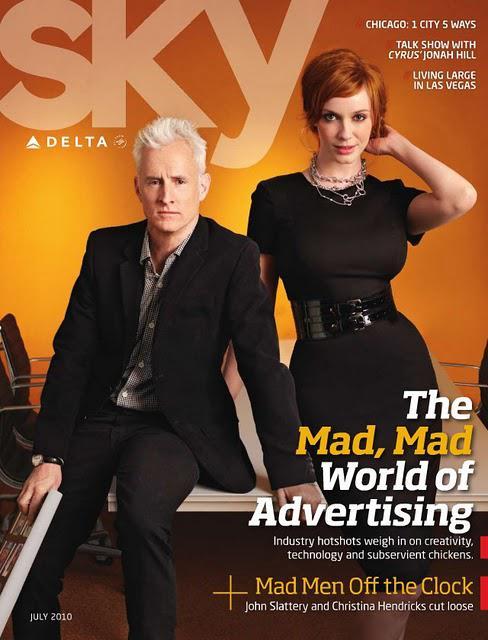 [couv] Christina Hendricks pour LA Times et Delta Sky magazines