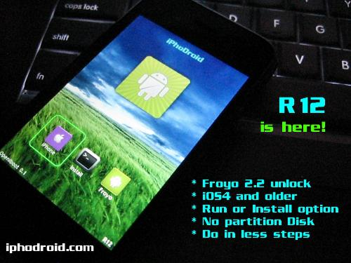 MàJ iPhoDroid beta R12 : Compatibilité Android Froyo 2.2 et iOS 4