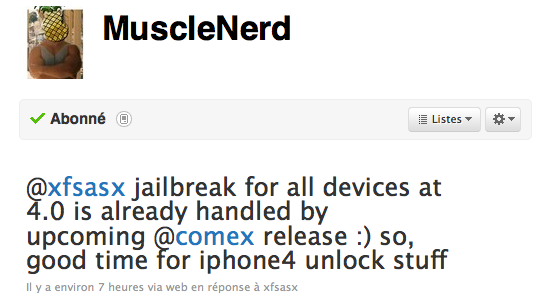 Le jailbreak iOS 4 pour iPhone 3GS, iPhone 4 et iPod touch arrive !!