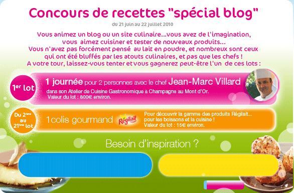 Concours de recettes ''spécial blog''