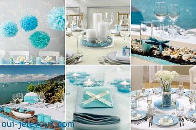 Une décoration de mariage bleu turquoise? Oui, je le veux !
