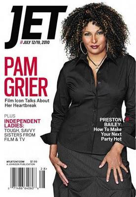 Pam Grier en couverture de Jet mag