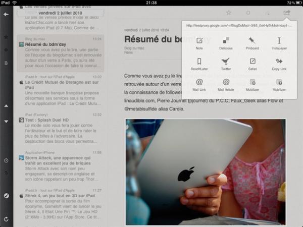 ipad  Mes applications iPad