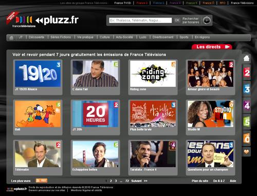 France Télévisions ouvre Pluzz.fr, son service de TV de rattrapage