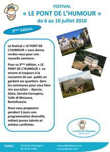 3ème édition du Festival du pont de l'humour à partir d'aujourd'hui à Ajaccio jusqu'à samedi