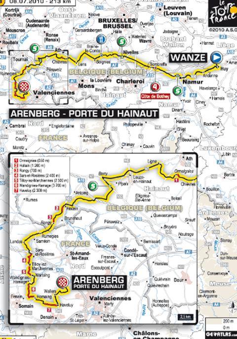 Tour de France 2010 ... Tout sur l'étape 3 du mardi 6 juillet 2010