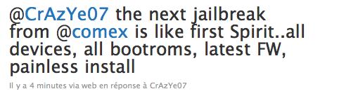 Jailbreak iOS 4 iPhone 4, 3GS, 3G iPod Touch 2G, 3G tous bootroms en un clic à venir