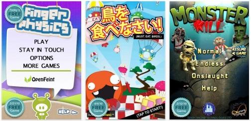 OpenFeint: 1 jeu gratuit par jour