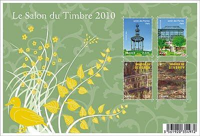 salon du timbre 2010 moulins et jardins paperblog