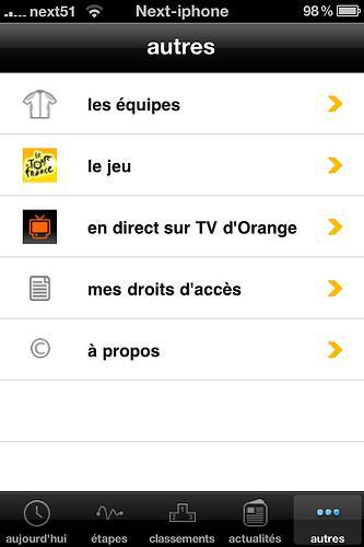 Le Tour de France 2010 sur votre iPhone...