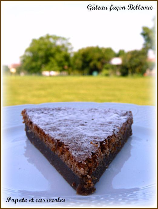 Gâteau au chocolat façon Bellevue
