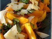 Salade d'abricots Parmesan