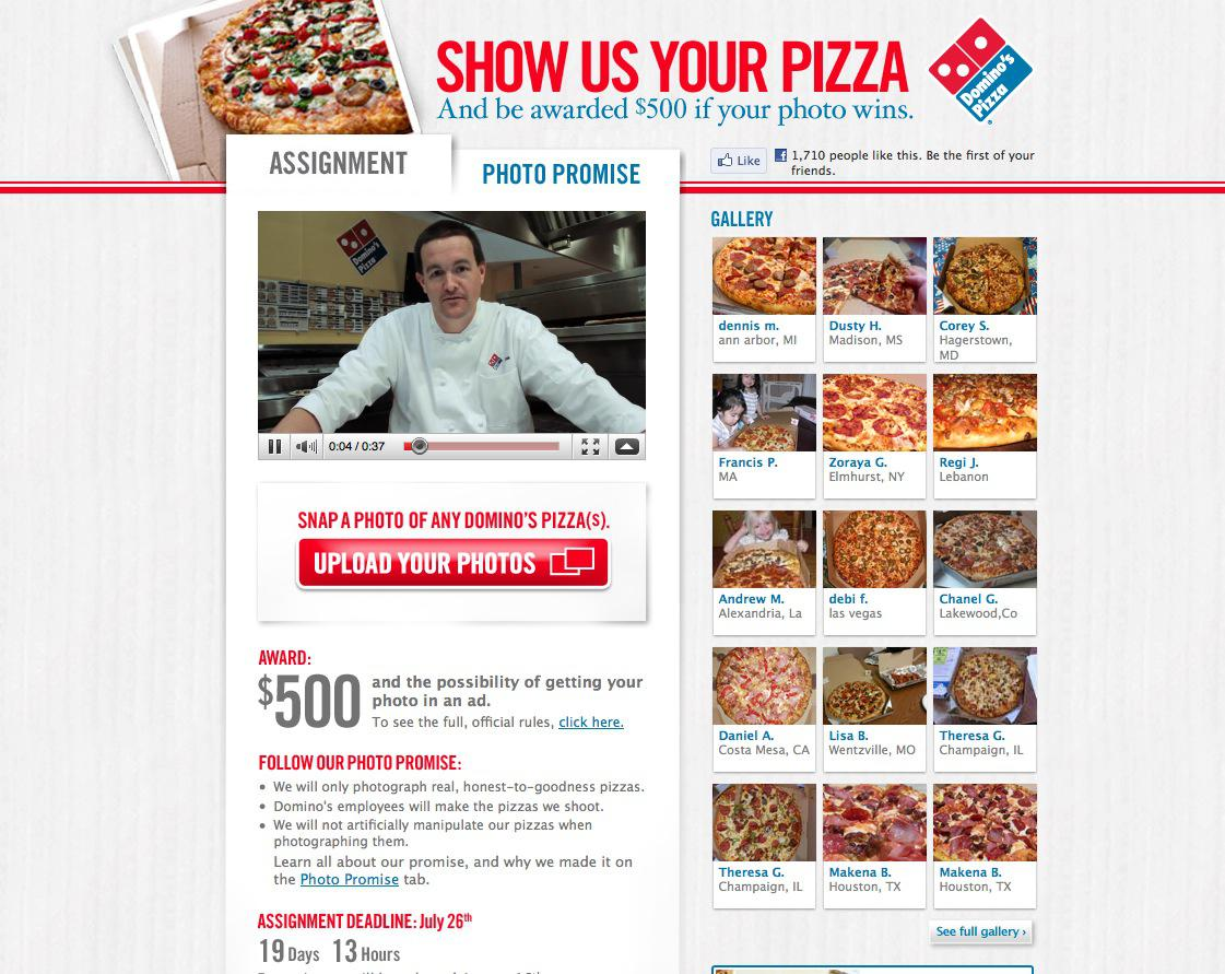 Domino s pizza show us your pizza voir for Dominos pizza salon