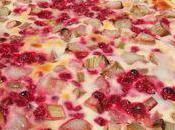 Tarte groseilles-rhubarbe l'amande