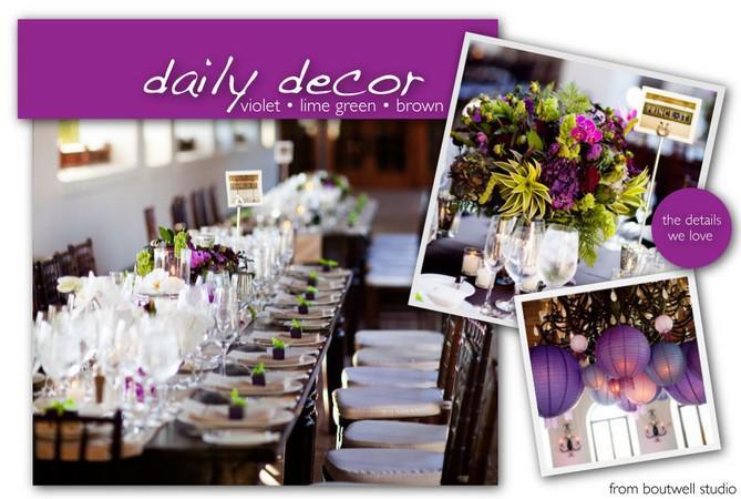 decoration de table violette et verte a quelque chose de moderne et ...