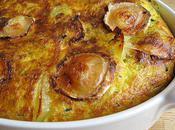 Clafoutis pommes terre, courgettes chèvre