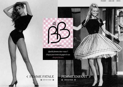 tendance look brigitte bardot et lancel cr a le bb ou le sac bio paperblog. Black Bedroom Furniture Sets. Home Design Ideas