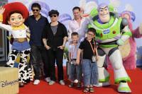 Pascal Elbé, Olivier Dahan et leurs amis à l'Avant-première de Toy Story 3 à Disneyland Paris