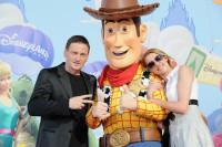 Frédérique Bel et Benoît Magimel à l'Avant-première de Toy Story 3 à Disneyland Paris