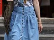 pensez (trop) longue jupe jean Claudia Schiffer?