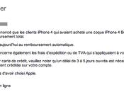 Bumper pour iPhone Apple rembourse déjà!