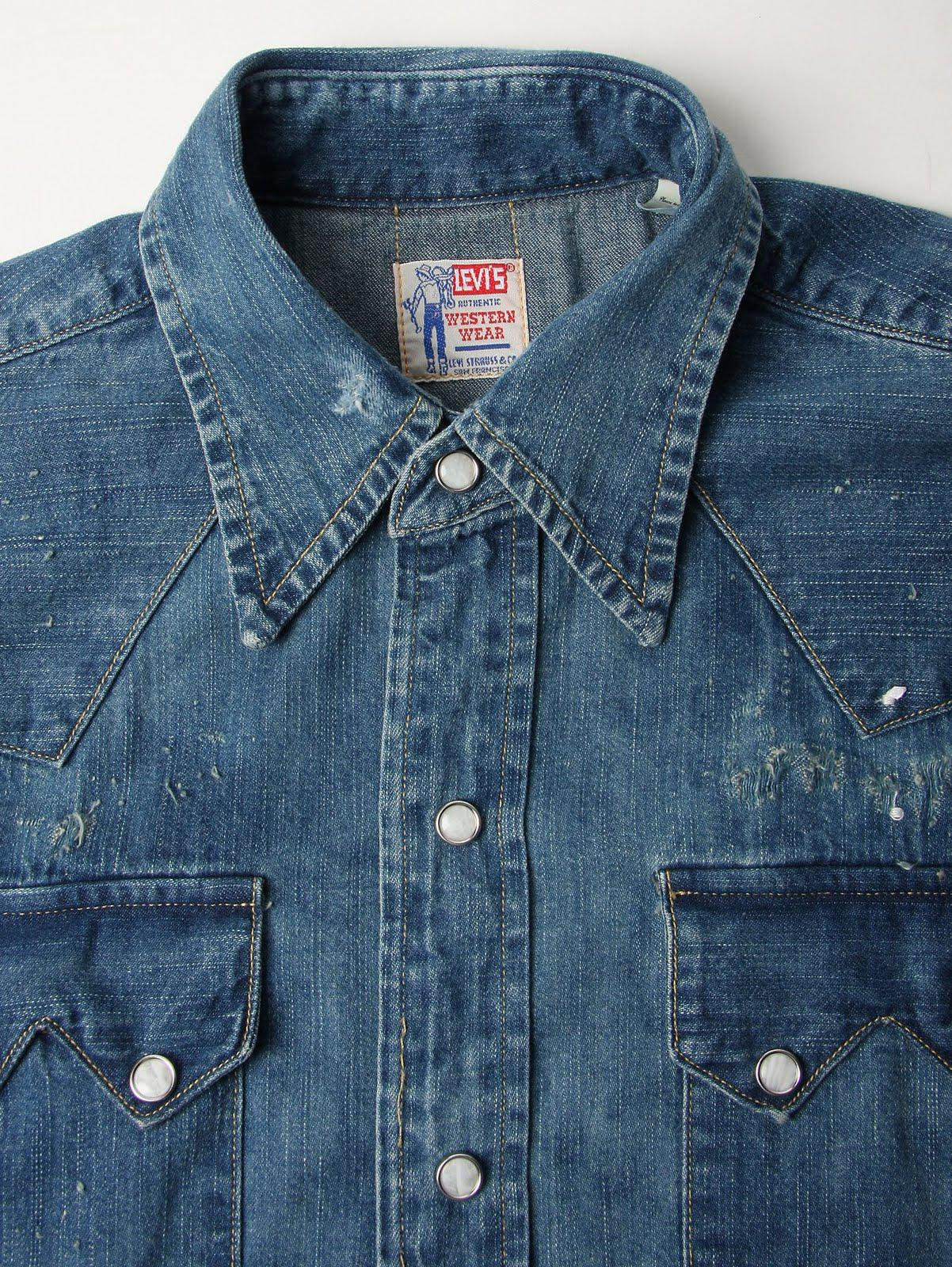 Levi 39 s vintage sawtooth denim shirt d couvrir for Levis vintage denim shirt 1950 sawtooth slim fit