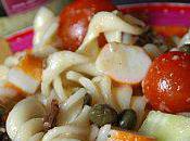 Salade pâtes multicolore crème artichauts/olive