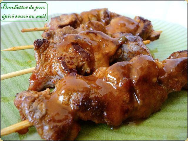 brochettes de porc sauce au miel d couvrir
