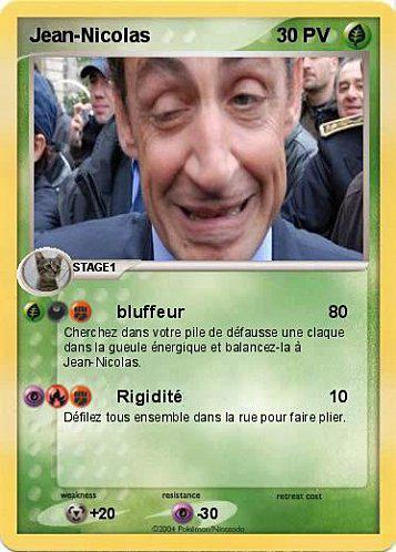 Carte Pokemon version Sarko - Paperblog