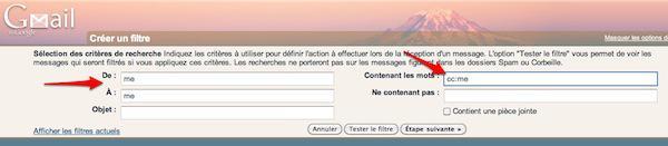 filtre gmail 1 Gmail: deux filtres qui allégeront votre boîte de réception [Astuce]
