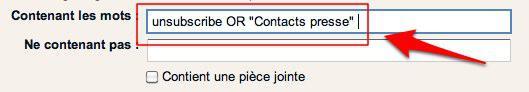 filtre gmail 4 Gmail: deux filtres qui allégeront votre boîte de réception [Astuce]
