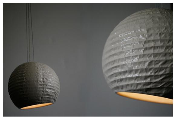 Fausse lampe en papier vraie lampe en porcelaine voir - Lampe en papier ...