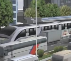 Chine: des «bus volants» pour réduire les embouteillages